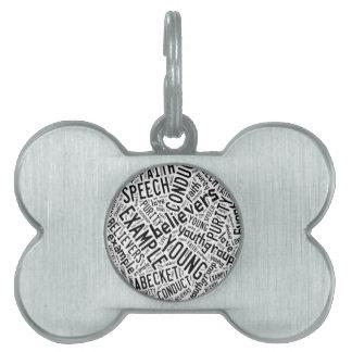 Holy Spirit Gear - white circle black text Pet Tags