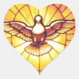 HOLY SPIRIT HEART STICKER