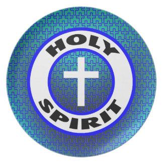 Holy Spirit Melamine Plate