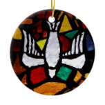 holy, spirit, stained, glass, ornament