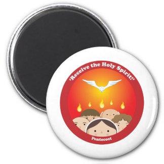 Holy Spirit Pentecost 2 Inch Round Magnet