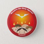 Holy Spirit Pentecost Button