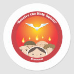 Holy Spirit Pentecost Classic Round Sticker