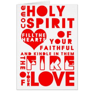 Holy Spirit Prayer Card