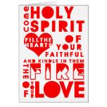 Holy Spirit Prayer Greeting Card