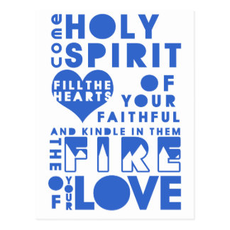 Holy Spirit Prayer Postcard