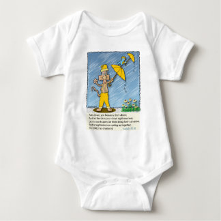 Holy Spirit Raining Down on the Earth. Baby Bodysuit