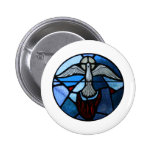Holy Spirit Stained Glass Art 2 Inch Round Button