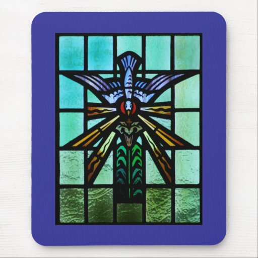 Holy Spirit Stained Glass Art Mouse Pad