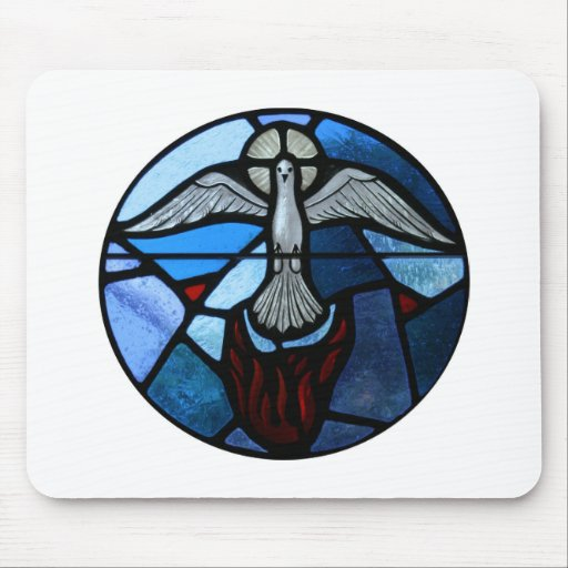 Holy Spirit Stained Glass Art Mousepads