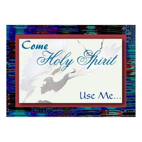 Holy Spirit, Use Me...Card Large Business Card