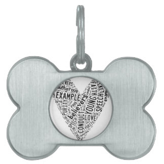 Holy Spirit Wear - Black text on white heart Pet Tag