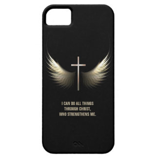 Holy Spirit Wings and Christian Cross Personalized iPhone 5 Case