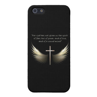 Holy Spirit Wings with Cross and Bible Verse Case For iPhone SE/5/5s
