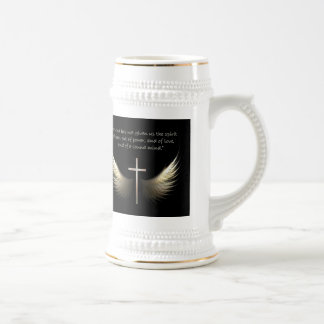 Holy Spirit Wings with Cross and Scripture Stein