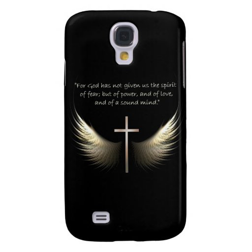 Holy Spirit Wings with Cross and Scripture Verse Samsung Galaxy S4 Case