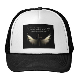 Holy Spirit Wings with Cross and Scripture Verse Hats
