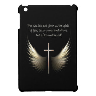 Holy Spirit Wings with Cross and Scripture Verse iPad Mini Cases
