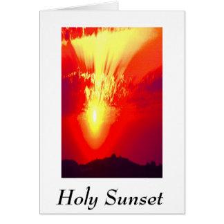 HOLY SUNSET CARD