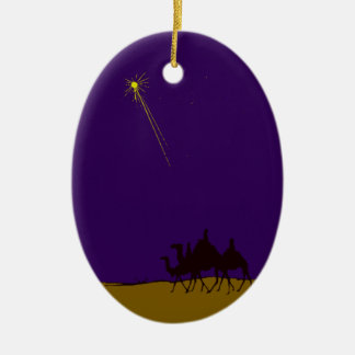 Holy three kings the three Wise Men Double-Sided Oval Ceramic Christmas Ornament