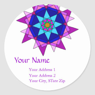 """""""Holy Triangles"""" Address Label"""