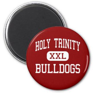 Holy Trinity - Bulldogs - Catholic - Charlotte 2 Inch Round Magnet