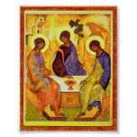 Holy Trinity by Andrei Rublev. Great painting titl Posters