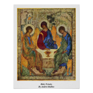 Holy Trinity By Andrei Rublev Poster
