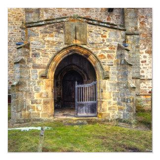 Holy Trinity Church, Wensley 5.25x5.25 Square Paper Invitation Card