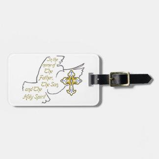 Holy Trinity Dove Luggage Tag