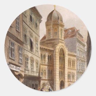 Holy Trinity Greek Church, Vienna by Rudolf Classic Round Sticker