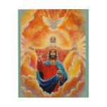 Holy Trinity in Glory Wood Print