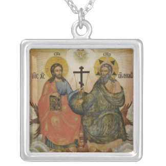 Holy Trinity (New Testament) Square Pendant Necklace