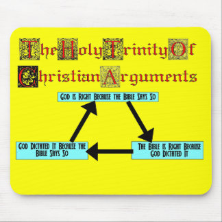 Holy Trinity of Christian Arguments MousePad