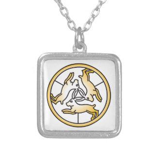 Holy Trinity Religion Square Pendant Necklace