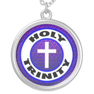 Holy Trinity Round Pendant Necklace