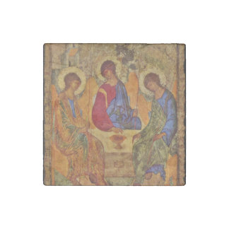 Holy Trinity Sitting at a Table Stone Magnet