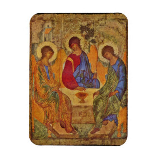 Holy Trinity Sitting at a Table Rectangular Photo Magnet