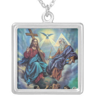 Holy Trinity Square Pendant Necklace