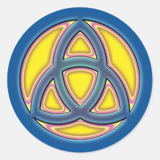 HOLY TRINITY SYMBOL CLASSIC ROUND STICKER