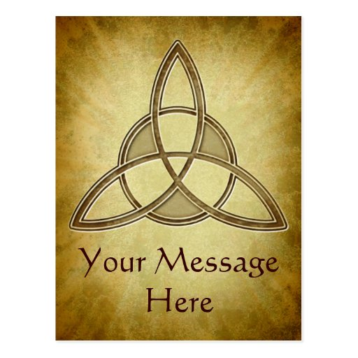 Holy Trinity Symbol Design Postcard