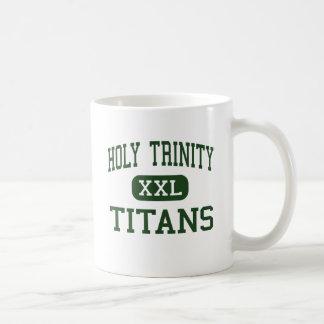 Holy Trinity - Titans - High - Hicksville New York Coffee Mug