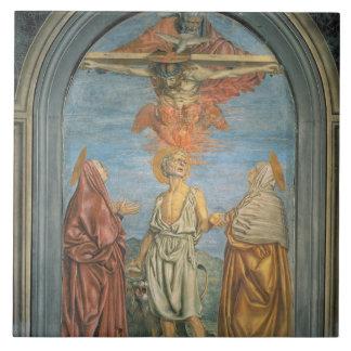 Holy Trinity with St. Jerome (fresco) Ceramic Tile