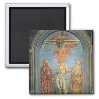 Holy Trinity with St. Jerome (fresco) Fridge Magnet