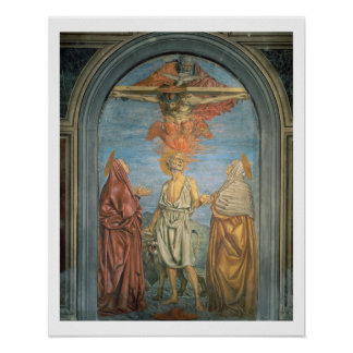 Holy Trinity with St. Jerome (fresco) Poster