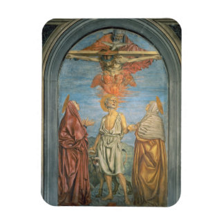Holy Trinity with St. Jerome (fresco) Flexible Magnets
