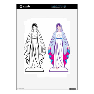 Holy Virgin Godmother vector Decal For iPad 2