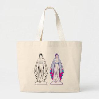 Holy Virgin Godmother vector Large Tote Bag