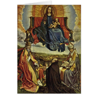 Holy Virgin In Glory By Robert Campin Greeting Card