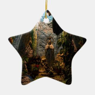 Holy Virgin Mary Grotto Ceramic Ornament